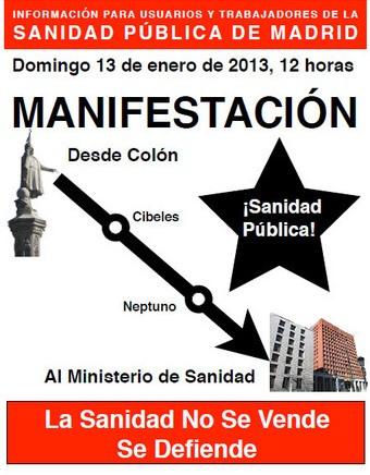 manifestacion sanidad 13E